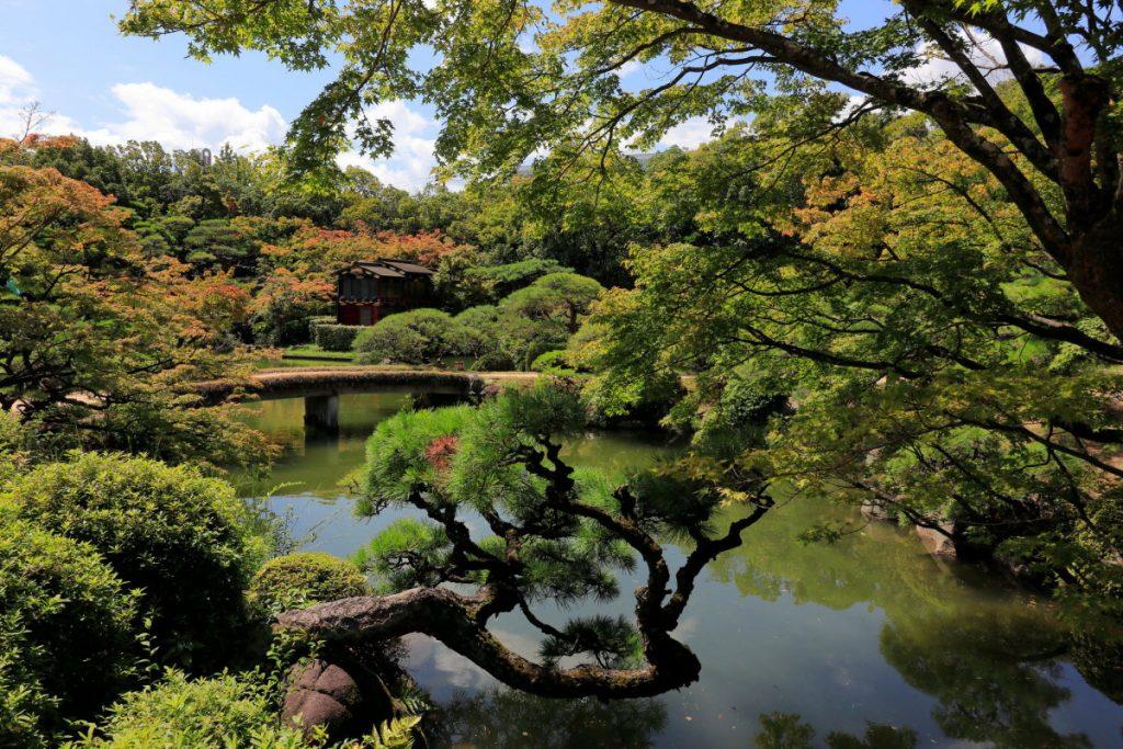相楽園の日本庭園