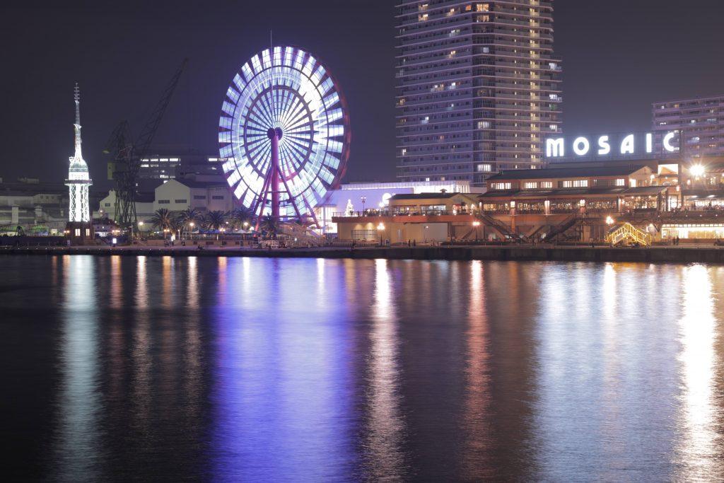 神戸モザイクと観覧車