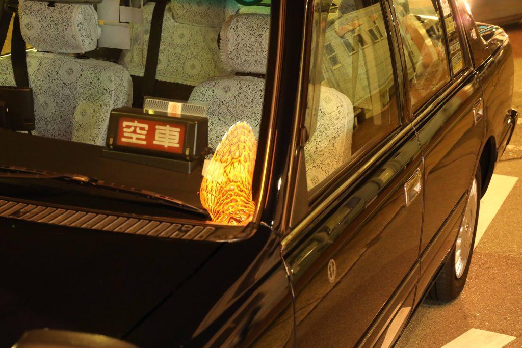 タクシーに乗ったポートタワー