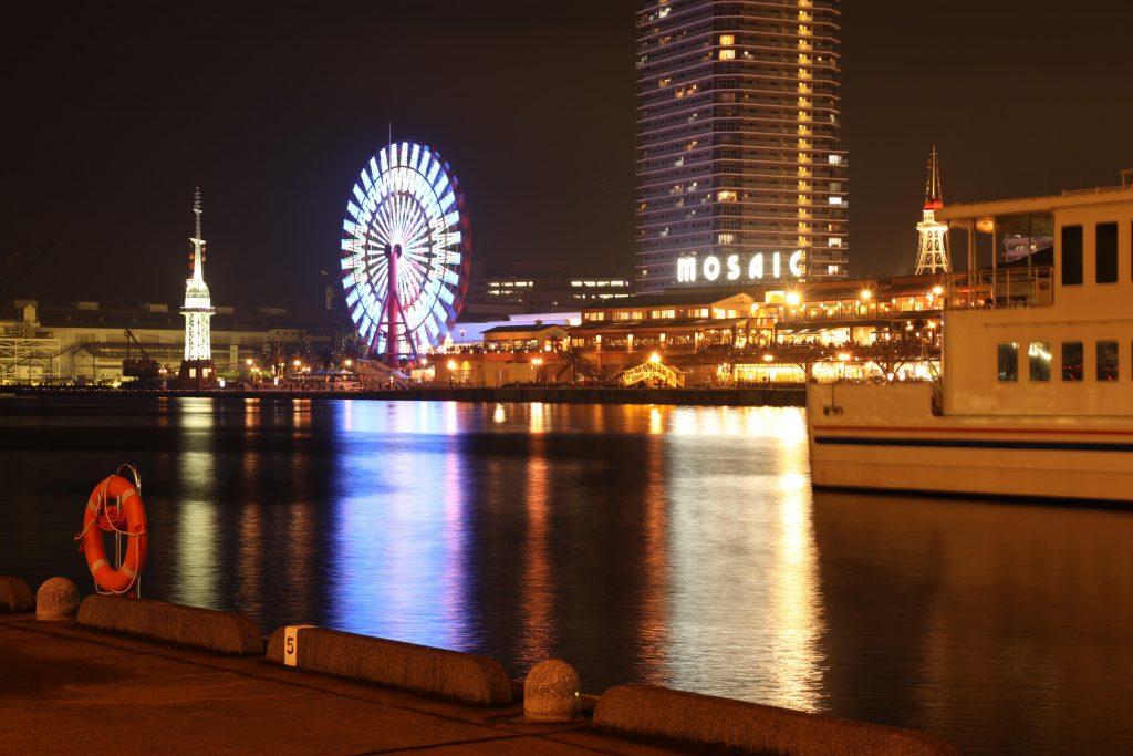 EOS 5D Mark4で撮影した作例写真 神戸港と神戸モザイク
