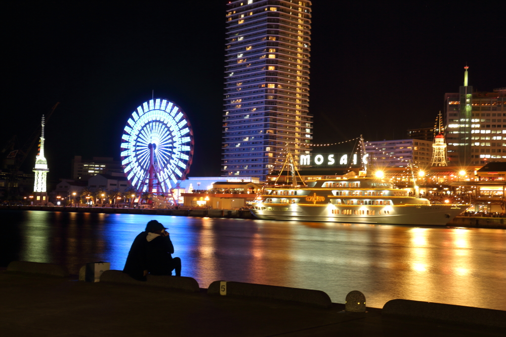 ハーバーランド・神戸モザイクの夜景