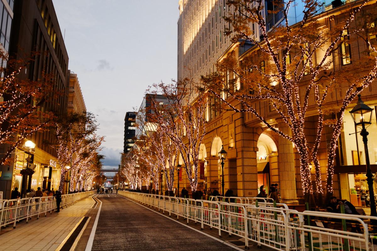神戸 大丸前 旧居留地のライトアップ