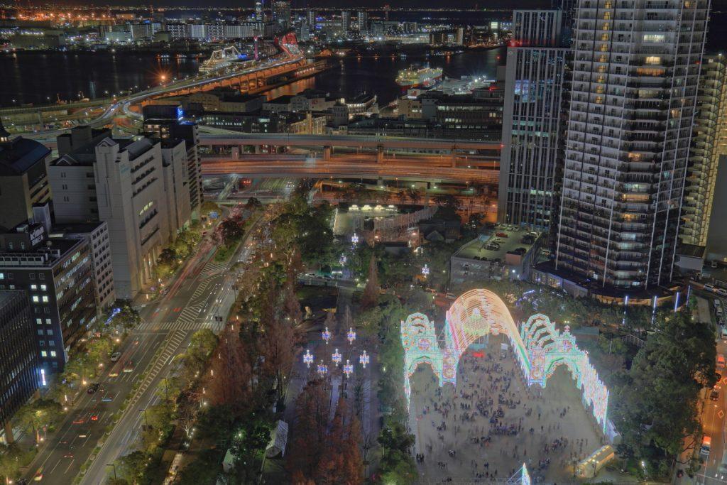 ルミナリエ 神戸市役所からの景色