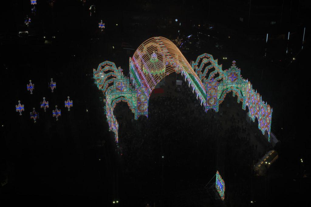 上から見た神戸ルミナリエ