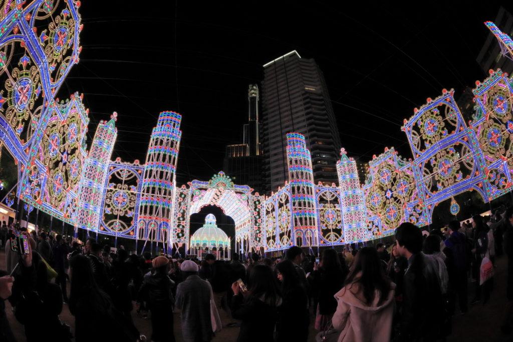 神戸ルミナリエ2018 三宮・東遊園地のイルミネーション