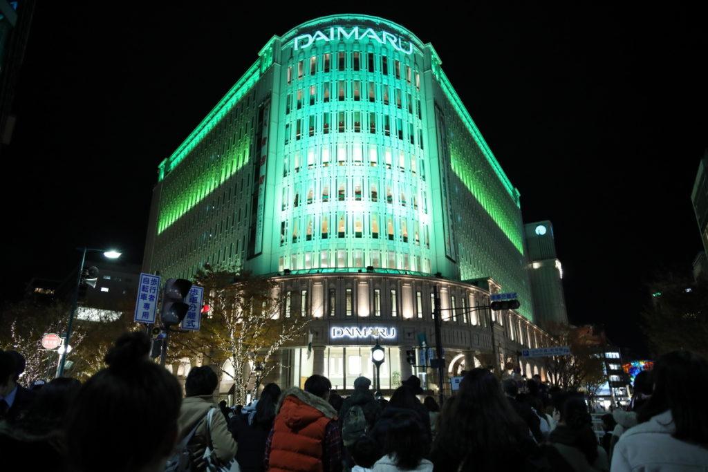 大丸神戸店のライトアップ