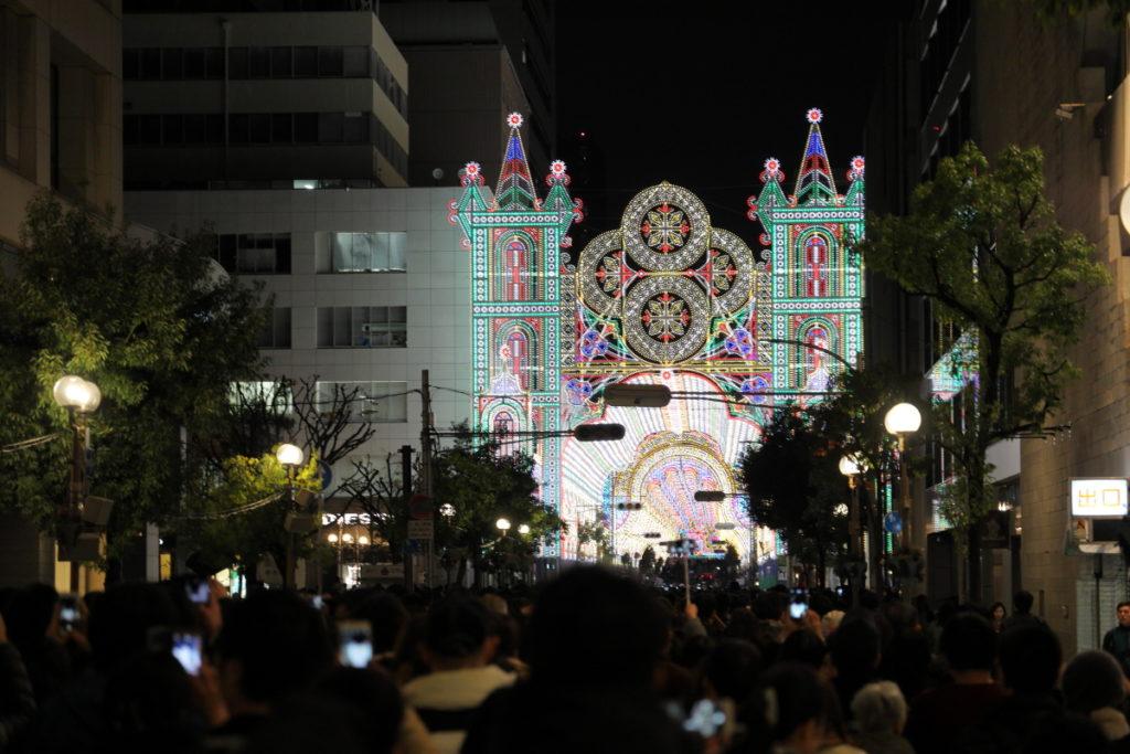 神戸ルミナリエのアーチ