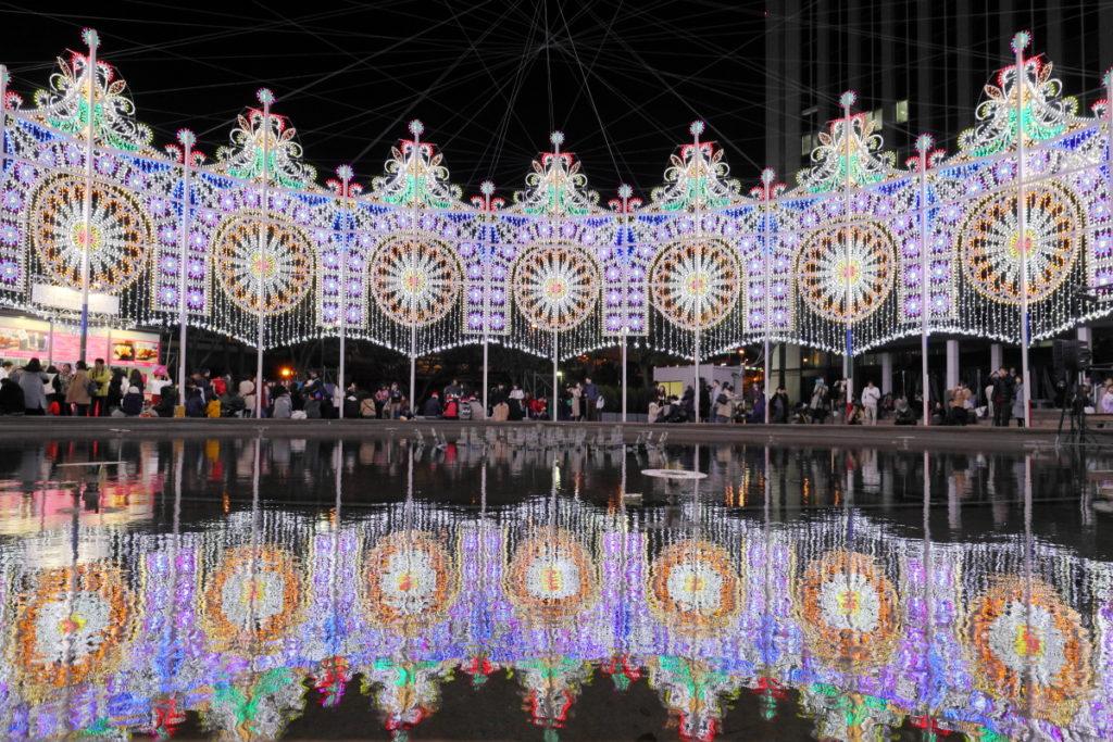 光のファウンテン 神戸ルミナリエ2018