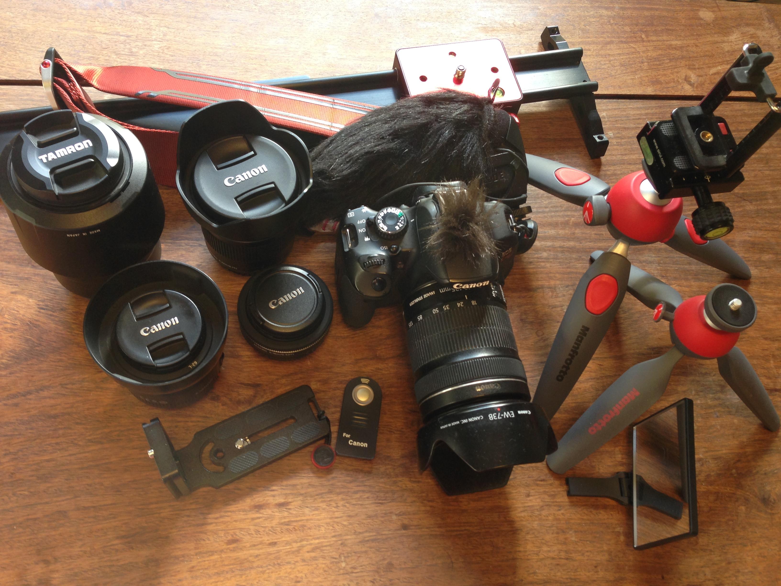所有しているカメラ機材