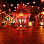 南京町ランタンフェアの夜景