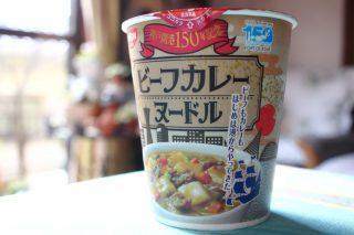神戸開港150年記念ビーフカレーヌードルが近畿限定で販売中!おいしいです