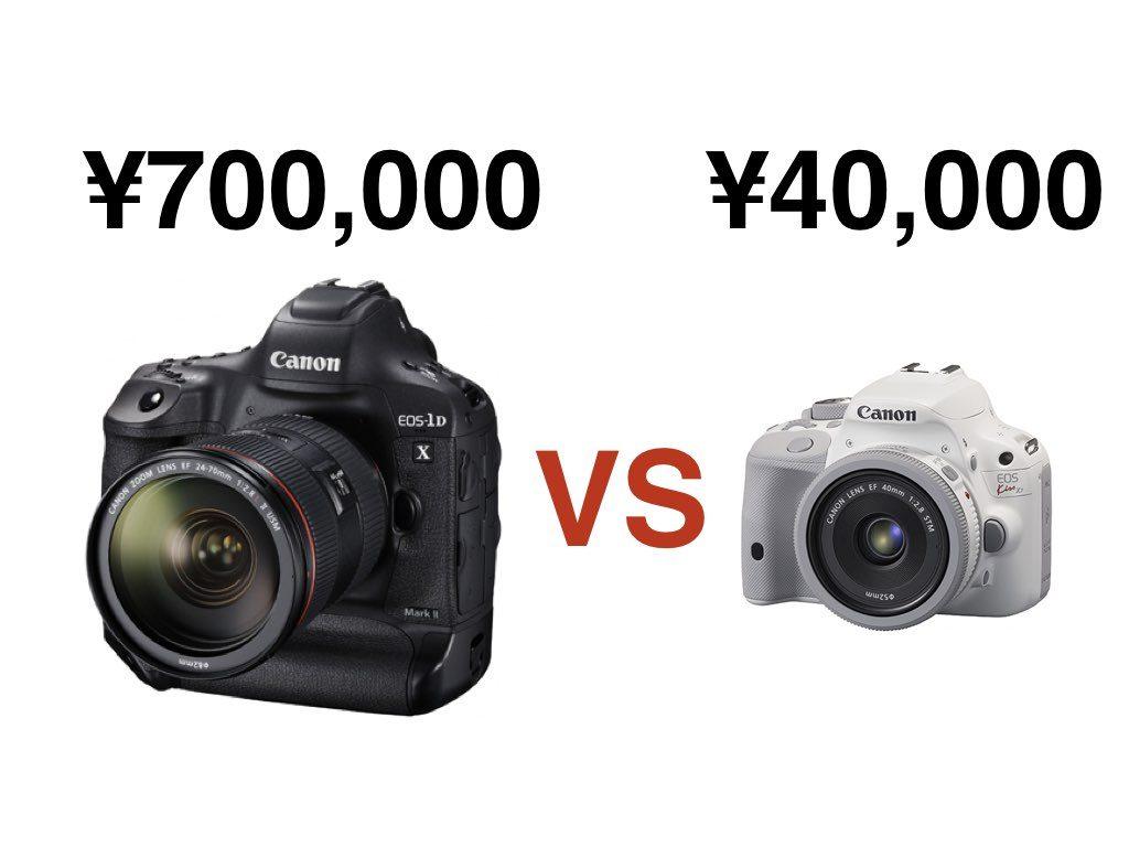 高いカメラと安いカメラの違いについて