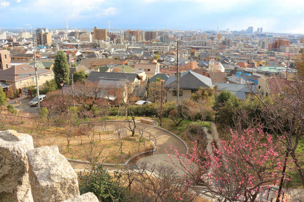 岡本梅林公園からの景色