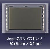 35mmフルサイズセンサー 約36mm×24mm