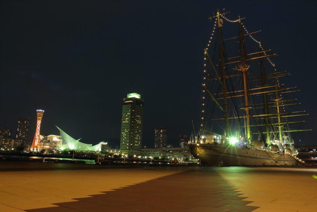 海王丸 神戸の夜景