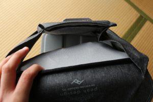 エブリデイバックパック パソコン収納ポケット