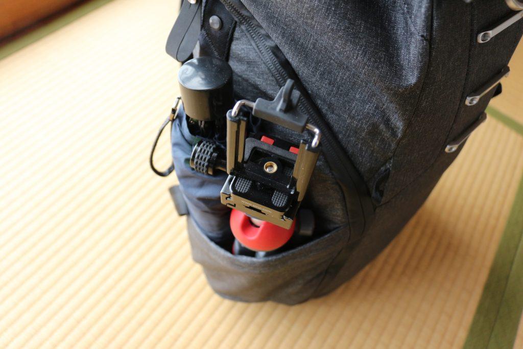エブリデイバックパック サイドポケット