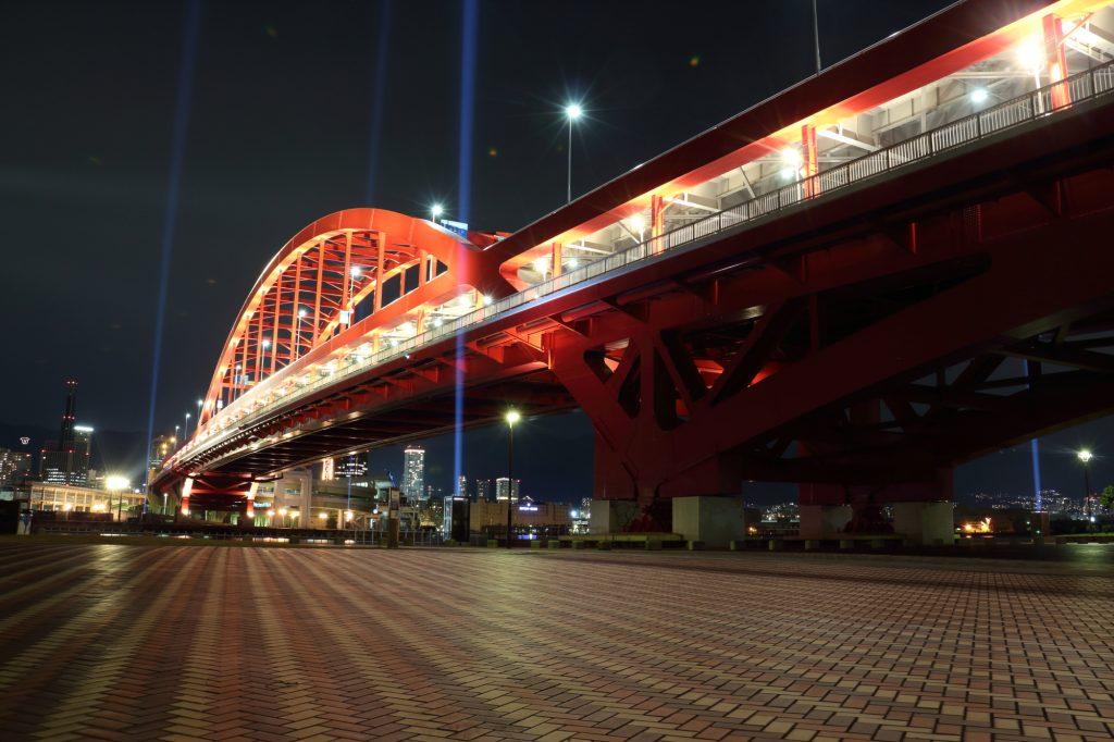 神戸大橋 夜景 ライトアップ