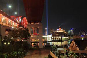 クイーンエリザベス 夜景 神戸 ポーアイ北公園