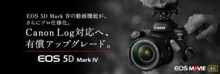 5D Mark4にCanon Logを追加搭載!6月下旬から受付