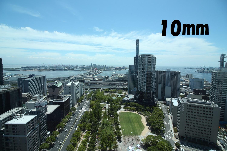 焦点距離10mmで撮影 神戸市役所24階展望室