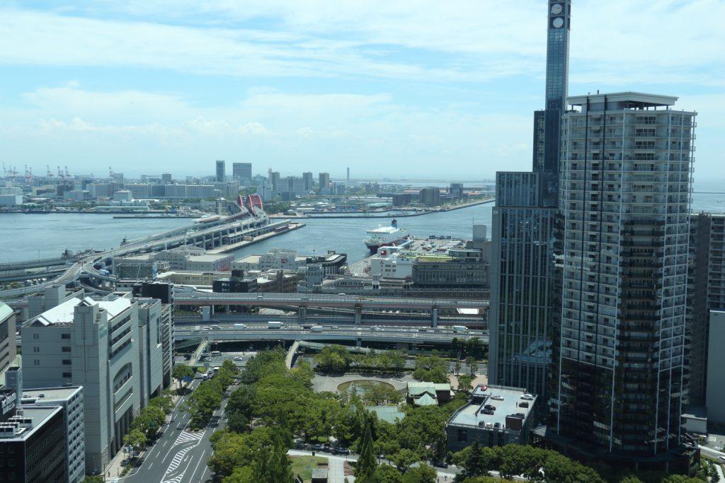焦点距離24mmで撮影 神戸市役所24階展望室