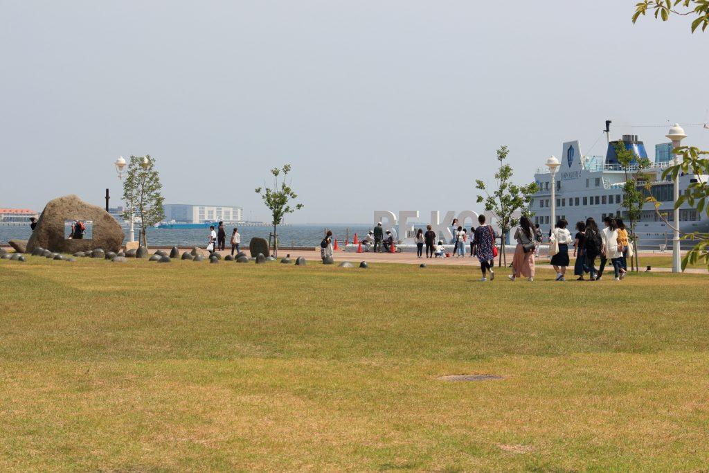 メリケンパークの芝生