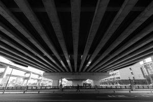 神戸・三宮の京橋と阪神高速