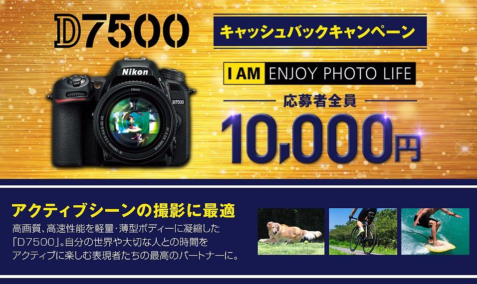 D7500キャッシュバックキャンペーン
