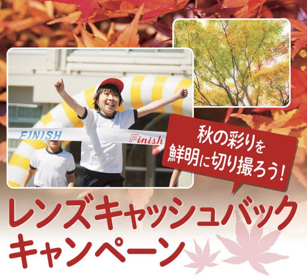 オリンパス 秋の彩りを鮮明に切り撮ろう!レンズキャッシュバックキャンペーン