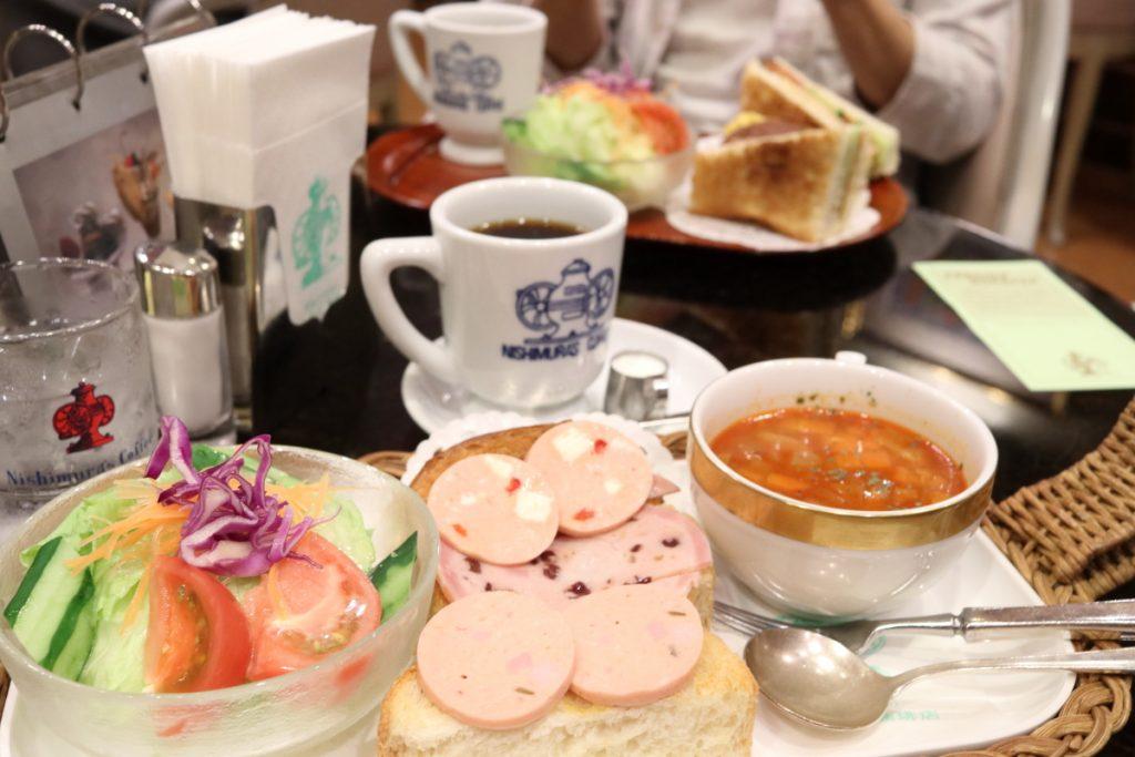 にしむら珈琲のサンドイッチセット