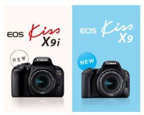 Canon EOS Kiss X9iとX9を比較