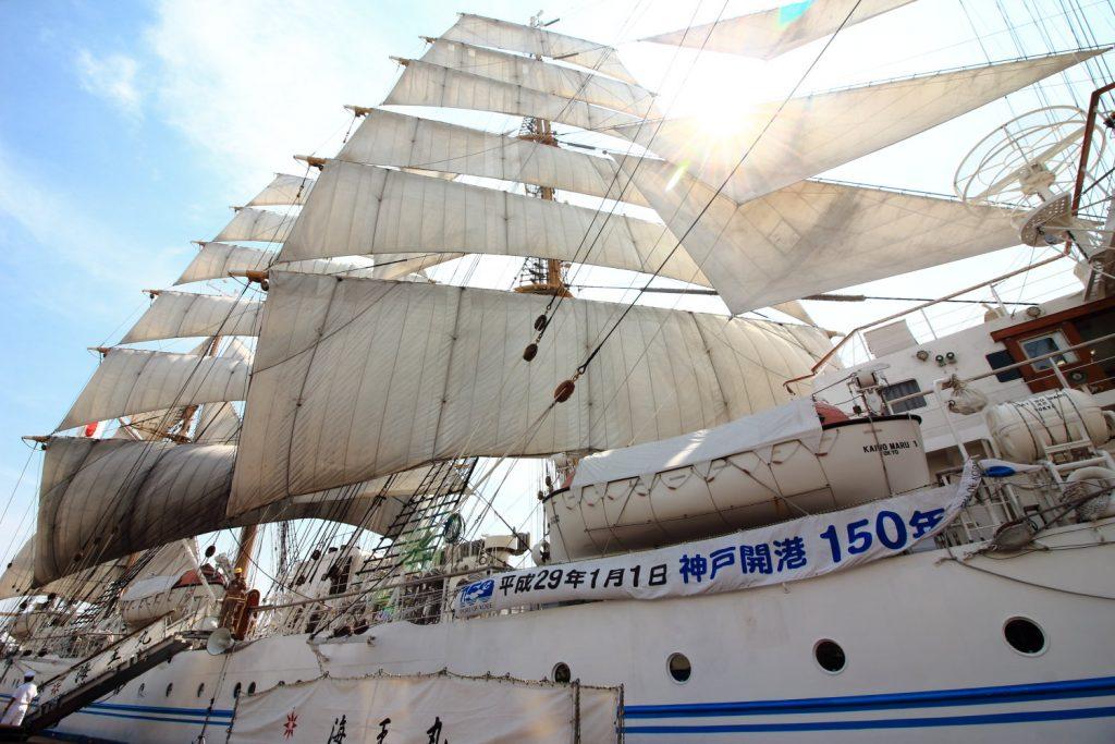 帆船フェスティバル 海王丸セイルドリル