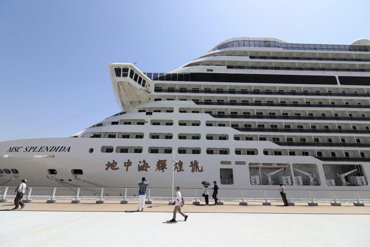 MSC Splendida Cruise Ship at KOBE PORT
