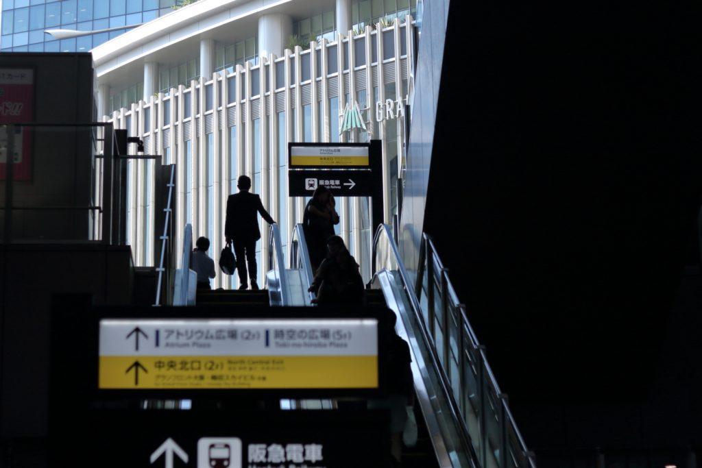 大阪駅 エスカレーター