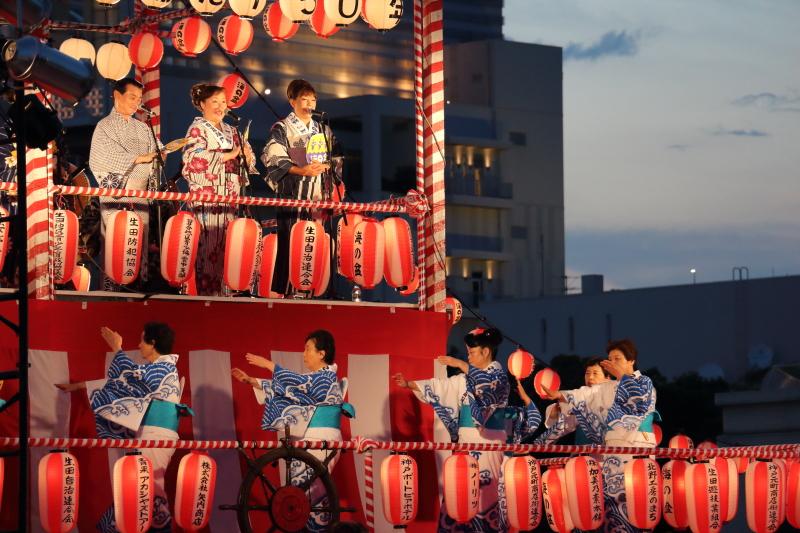 こうべ海の盆踊り 2017 生唄と見本踊り