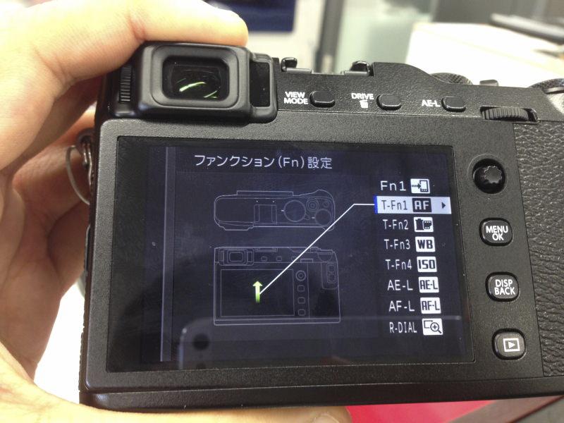 FUJIFILM X-E3 タッチパネル