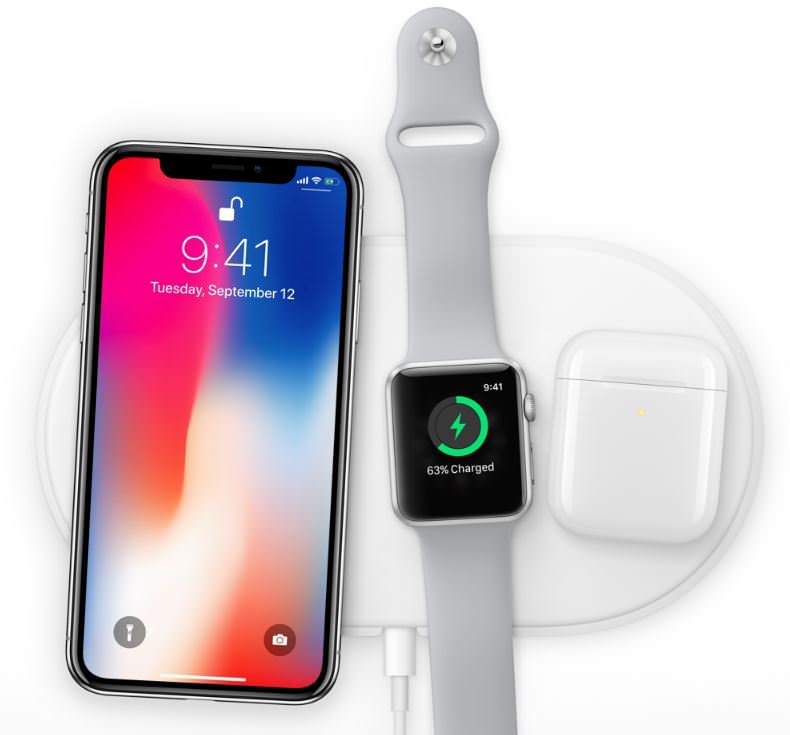 iPhoneXとApple Watch, Airpodsを一緒に無線充電
