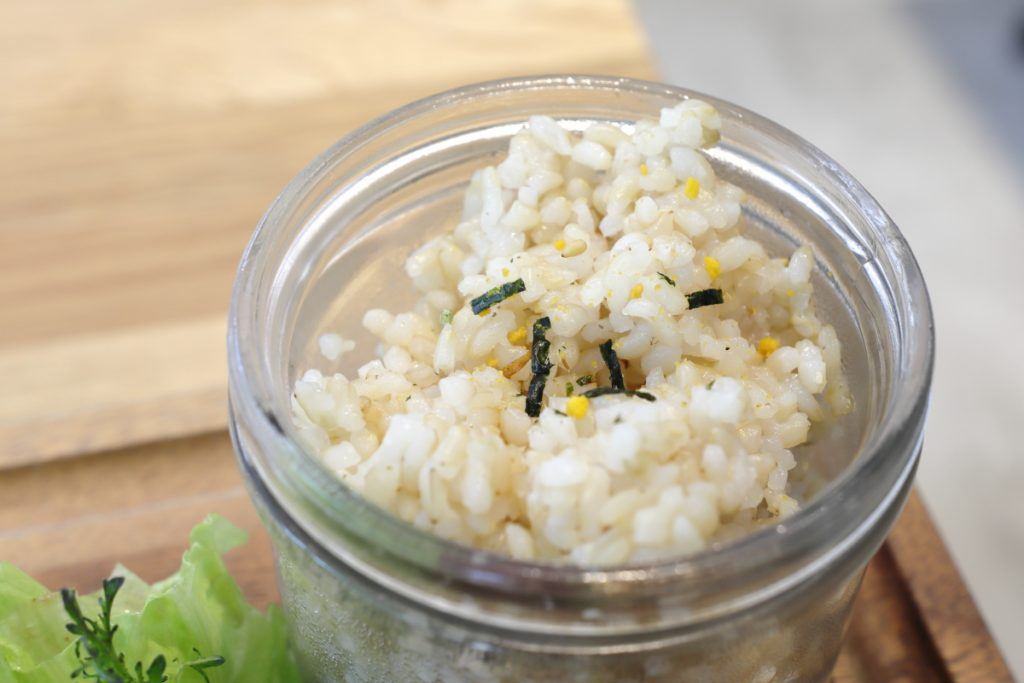ランチプレートの玄米ご飯