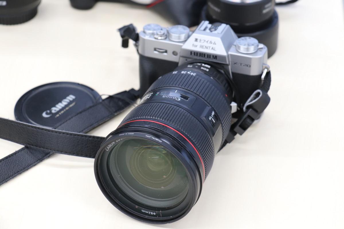 富士フイルムのカメラとキヤノンのLレンズ