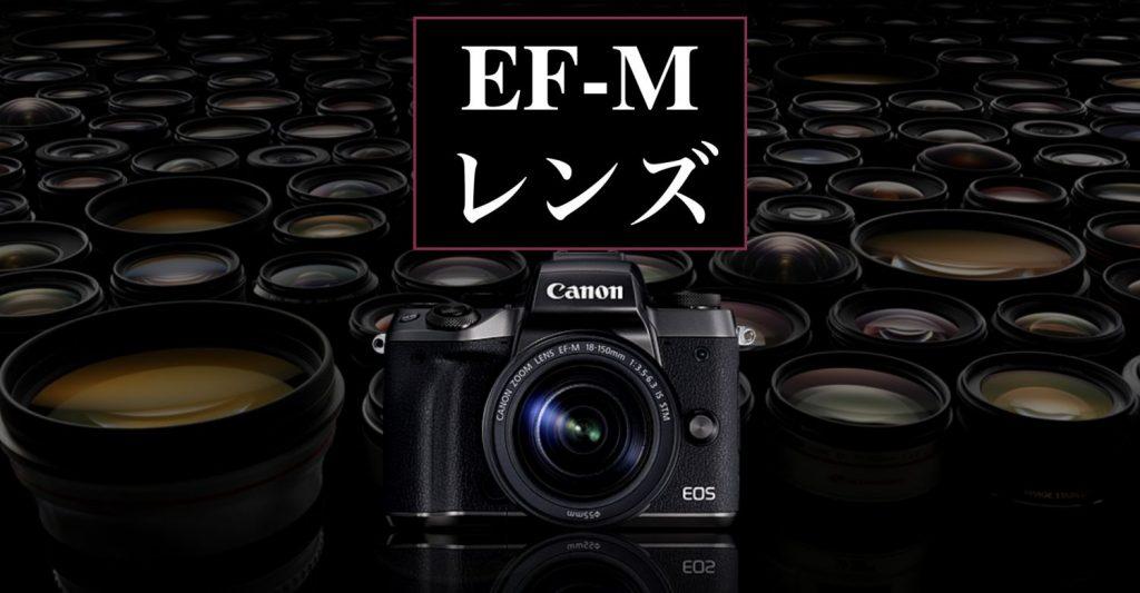 キヤノンミラーレスカメラ用レンズまとめ
