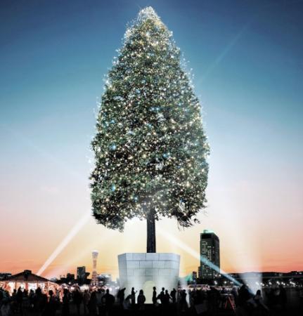 世界一のクリスマスツリー神戸 イメージ図