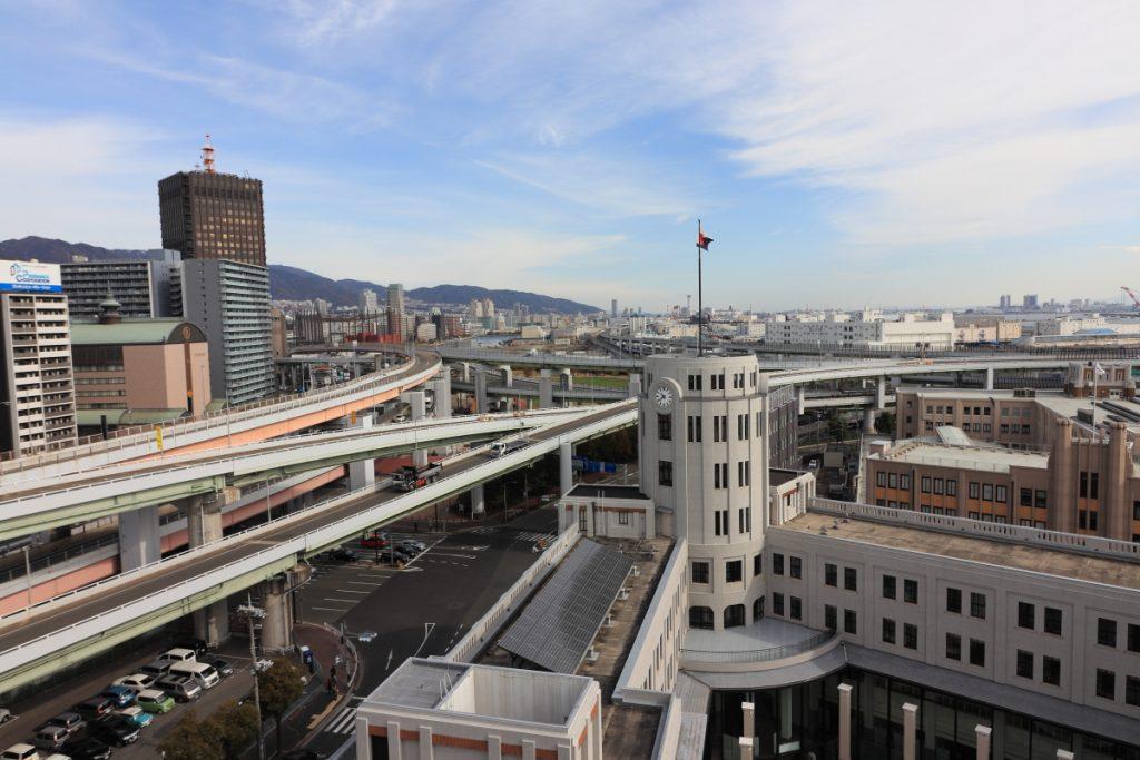神戸税関 屋上