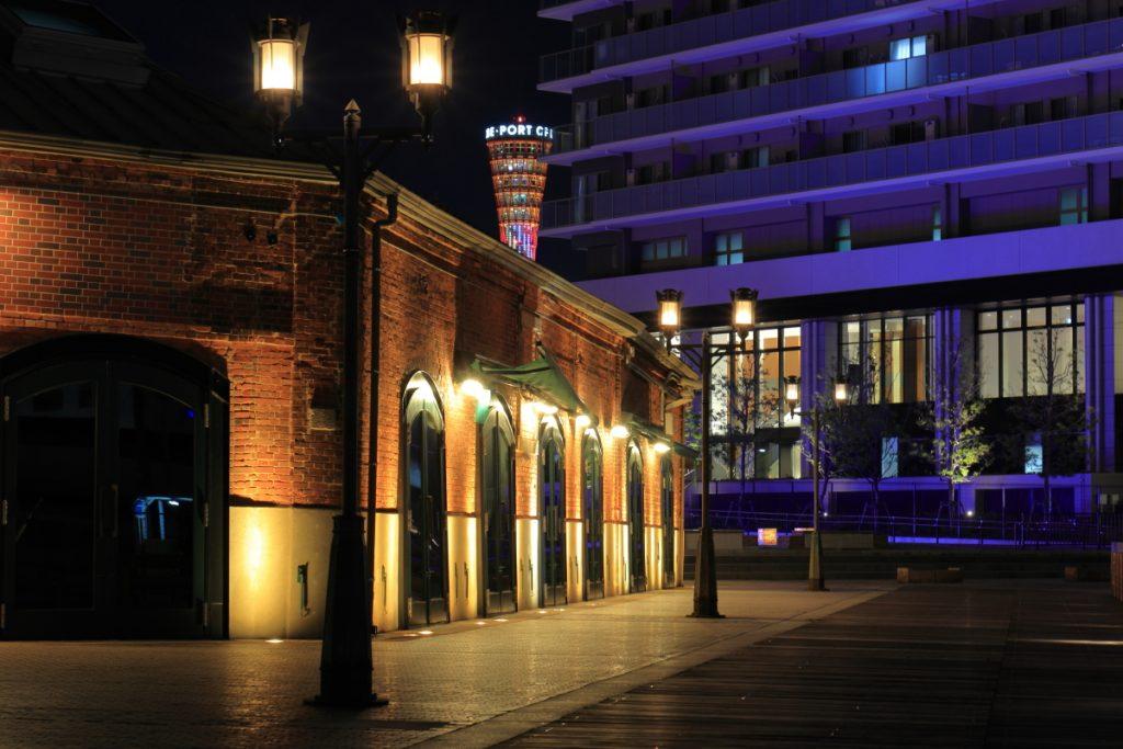 神戸煉瓦倉庫の夜景