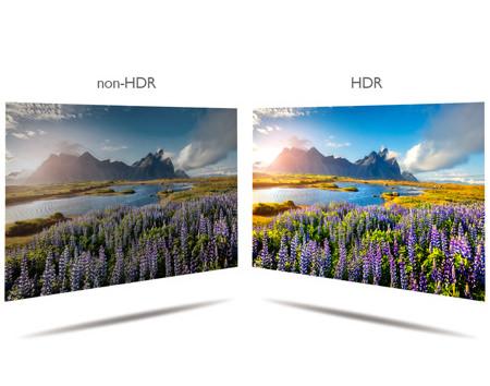 HDR動画と非 HDR動画のイメージ比較