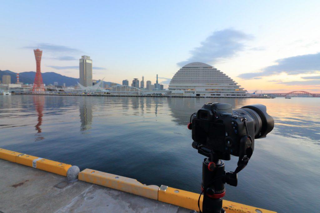 神戸港で初日の出撮影