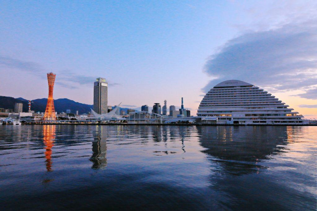 定番の神戸の港の風景 2018年 元旦