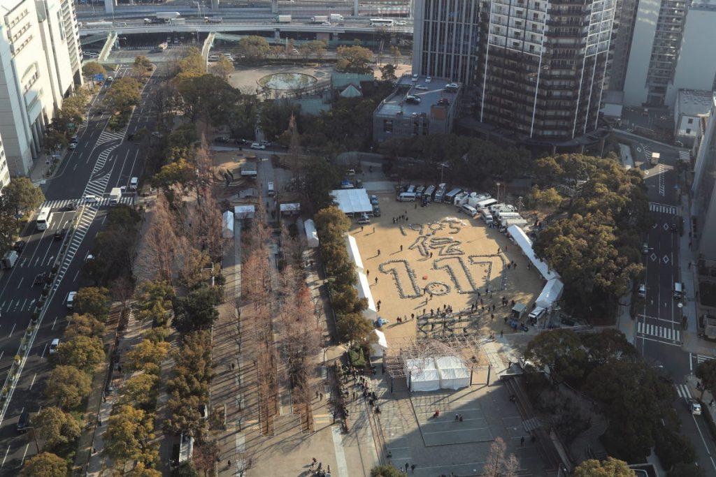 阪神・淡路大震災から23年 行事準備