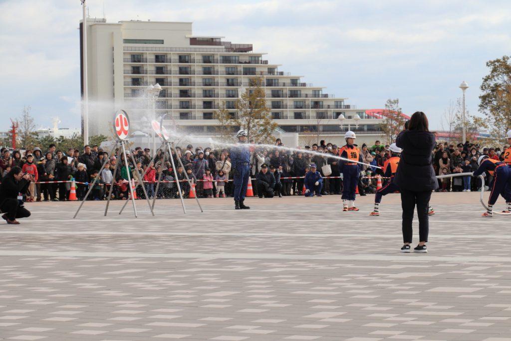 神戸市消防出初式 消火訓練