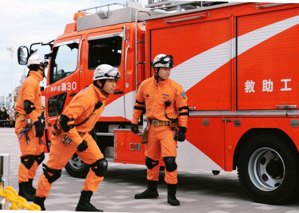 神戸市消防出初式 救急訓練